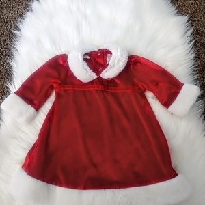 Small Wonders Baby's Pretty Santa Claus Outfit RED